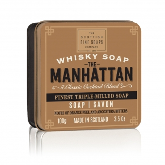 Seife in der Dose Soap in Tin 100 gr - Manhattan Whiskey  Scottish Fine Soaps