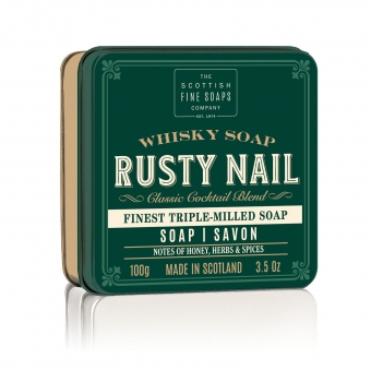 Seife in der Dose Soap in Tin 100 gr - Rusty Naill Whiskey  Scottish Fine Soaps