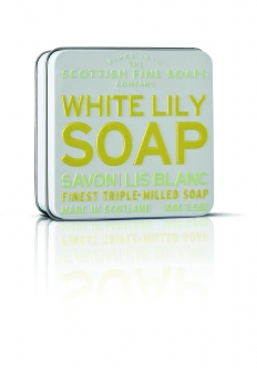 Seife in der Dose Soap in Tin 100 gr - White Lily Scottish Fine Soaps