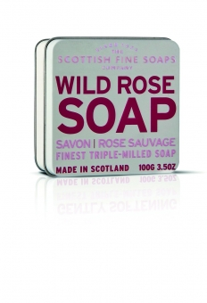 Seife in der Dose Soap in Tin 100 gr - Wild Rose Scottish Fine Soaps