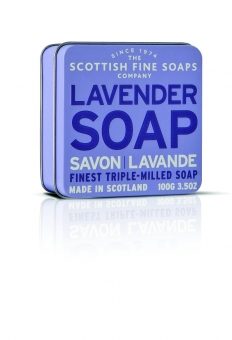 Seife in der Dose Soap in Tin 100 gr - Lavender Scottish Fine Soaps