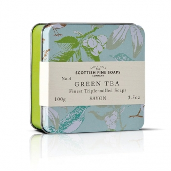 Seife in der Dose Soap in Tin 100 gr - Green Tea Scottish Fine Soaps